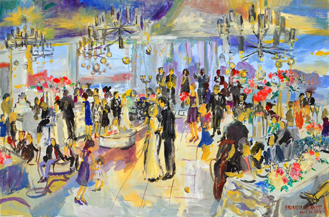 Live Event Painting Wedding Reception At The Four Seasons Baltimore April 26 2017