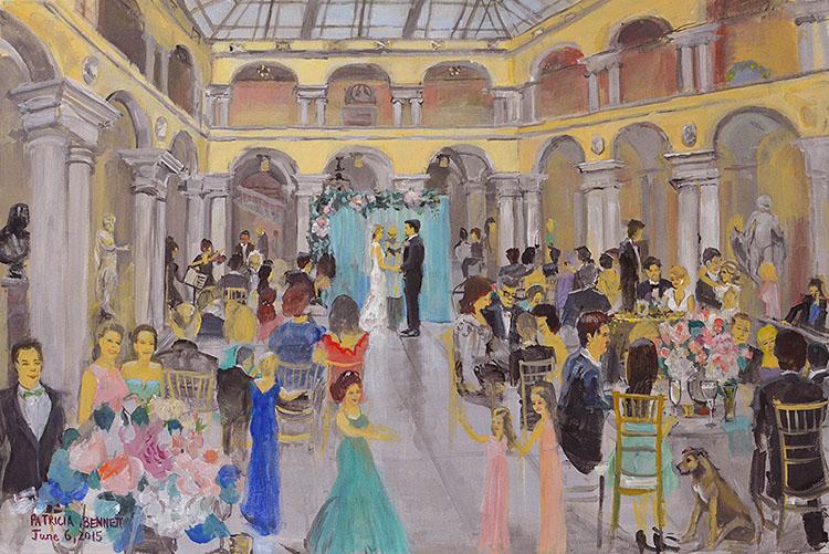 Copyright Patricia Bennett 2017 Walters Art Museum Wedding Painting Baltimore